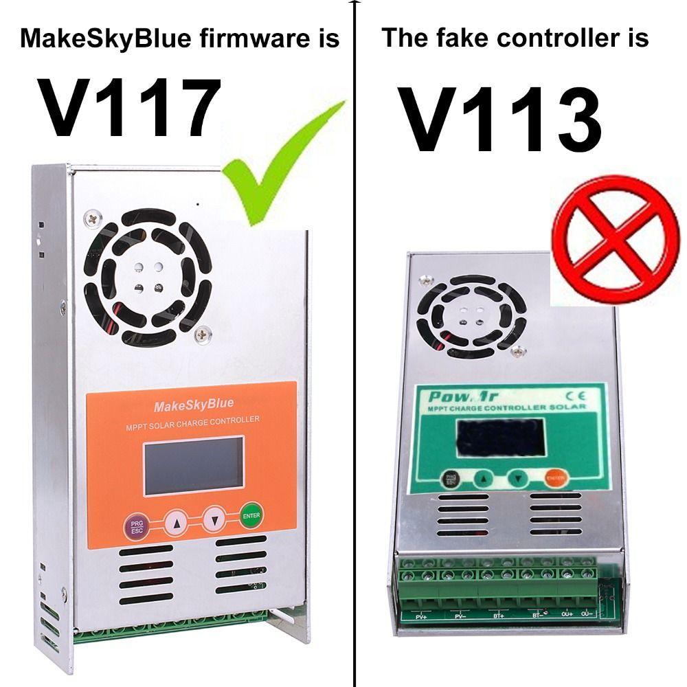 60A MPPT Solar Laderegler Regler V117 für 12 v 24 v 36 v 48 v DC MakeSkyBlue Qualität LCD mit Client der Anwendung Video