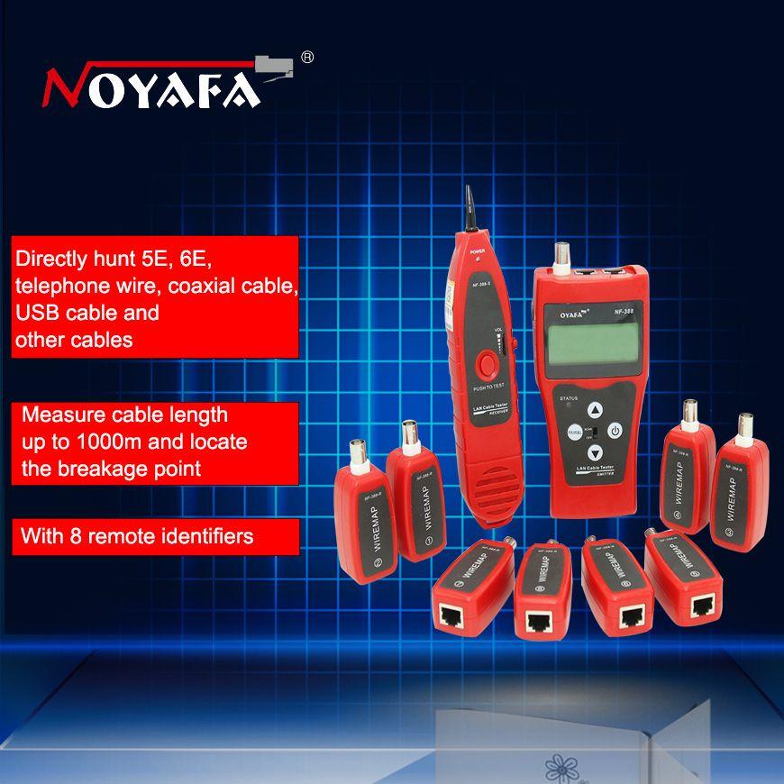 Testeur de câble coaxial de réseau NF-388 testeur de fil Ethernet testeur de câble à distance multifonctionnel