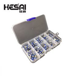 100 Pcs/Kotak RM065 Karbon Film Horizontal Trimpot Potensiometer Bermacam Kit Nilai 10 Variabel Resistor 500R-1 M