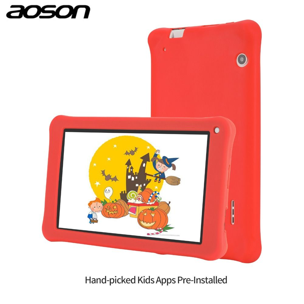 Gift version Aoson M753-S 7 inch kids tablet for children Android 7.1 16GB+1GB IPS 1024*600 Quad Core WiFi tablet with case
