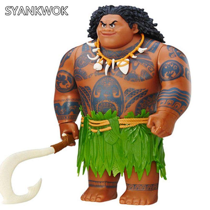 20cm Moana Movie Doll Waialiki Maui Figures Music Maui dolls Moana Action Figure Toy Christmas Birthday Gifts For Baby & Girl