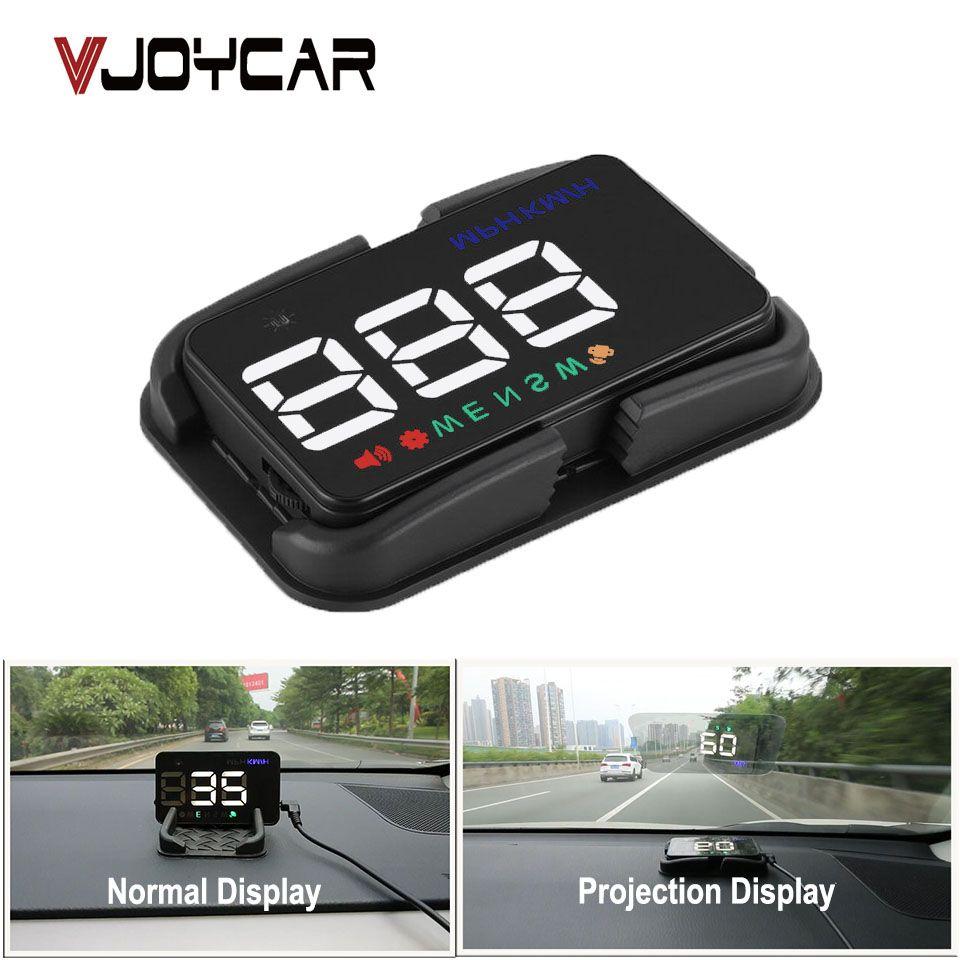 VJOYCAR A51 Universal Car HUD GPS Speedometer Speed Head UP Display Digital Overspeed Alarm Windshield Projector Auto Hud