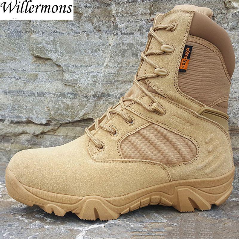 Military herren Outdoor Kuh Wildleder Taktische Wandern Schuhe Stiefel Männer Armee Camping Sportschuhe