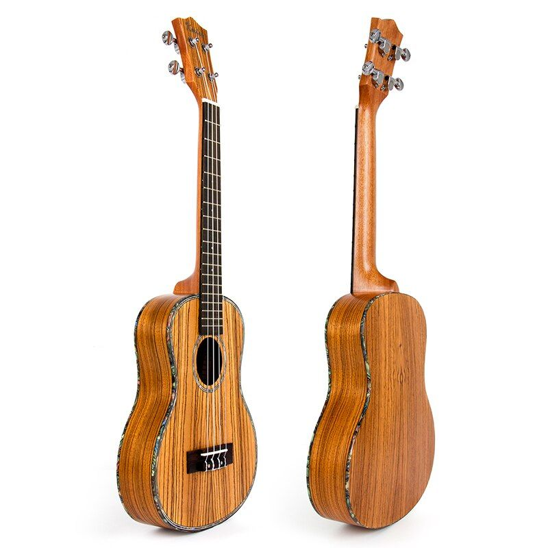 Kmise Travel Ukulele Tenor Thin Body 26 inch Zebra Ukelele Uke Hawaii Guitar 18 Fret