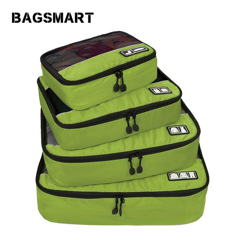 BAGSMART nouveau sac de voyage respirant 4 Set Cubes d'emballage bagages emballage organisateurs sac de week-end sac à chaussures Fit 23