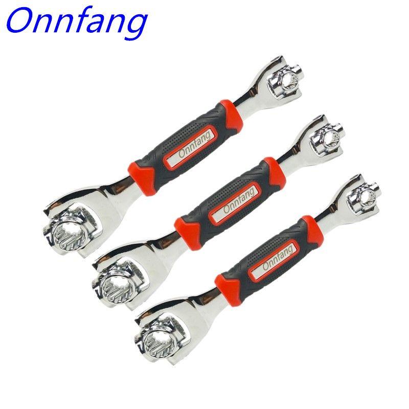 48-en-1 Tiger clé outils à main prise fonctionne avec des boulons cannelés Torx 360 degrés 6 points universel meubles voiture réparation clé