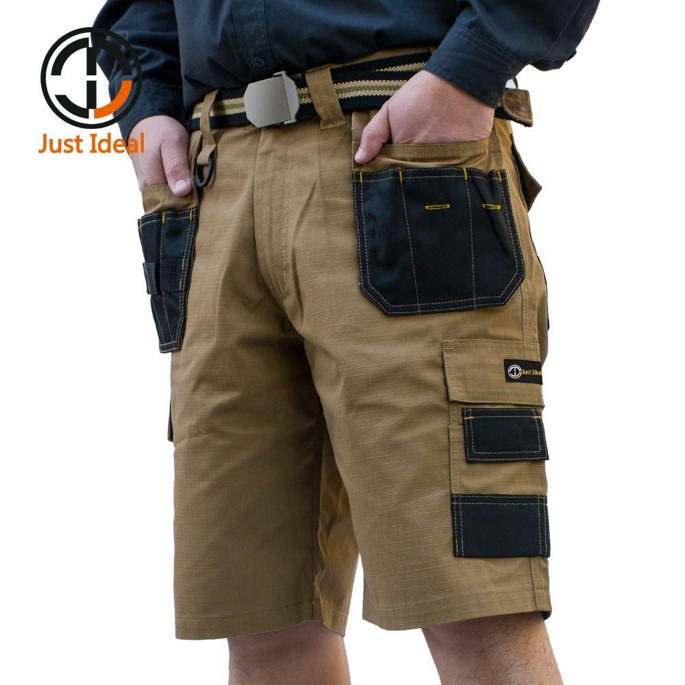 2017 männer Taktische Shorts Military Oxford Wasserdichte Rip Stop Kurze Multi Pocket Hose Männer Sommer Bermuda Plus größe ID625