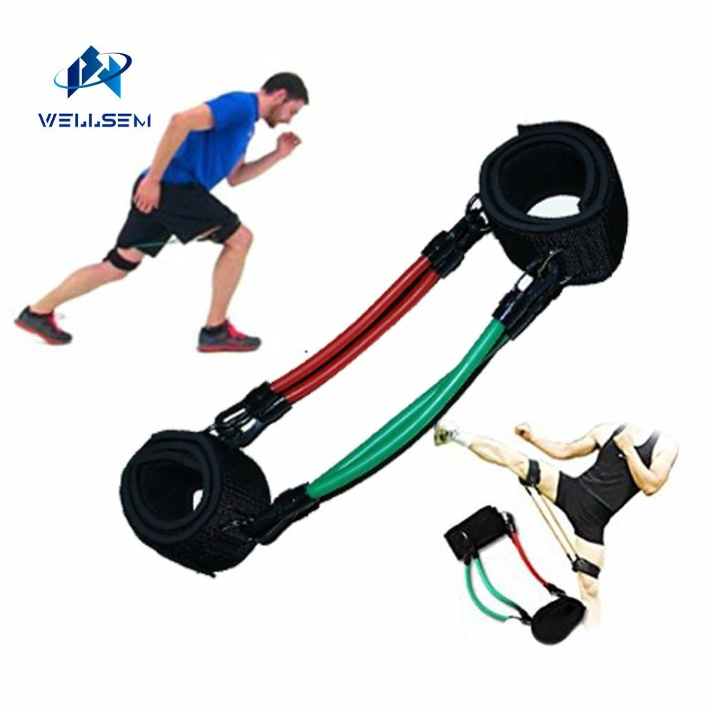 Wellsem Kinetic Speed Agility Training Leg Running Resistance Bands tubes <font><b>Exercise</b></font> For Athletes Football basketball players