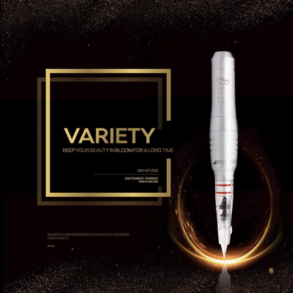 Biomaser HP500 Permanent Makeup Machine Professional Pen with Cartridges Needles Eyebrow lip Tattoo Gun Rotary Pen Machine