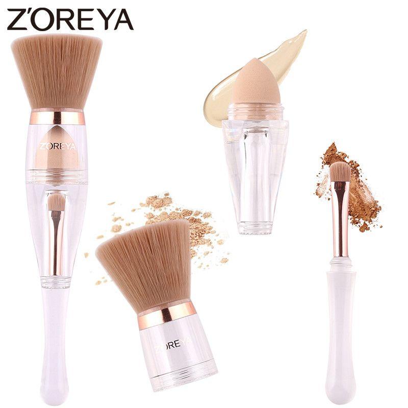 Zoreya Marque Portable Plat Contour Maquillage Brosses de Haute Qualité Synthétique cheveux Cosmétique Brosse Multi-fonction Make Up Outils