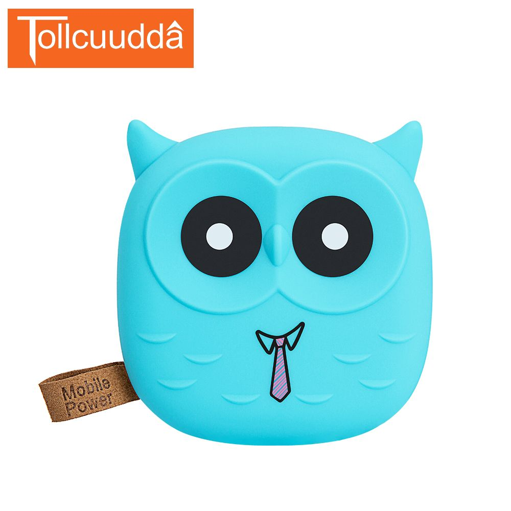 Tollcuudda 18650 PoverBank Cartoon Owl Power Bank 5000mAh Cute Portable Charger External Battery Pack For Mobile phone Iphone5s6