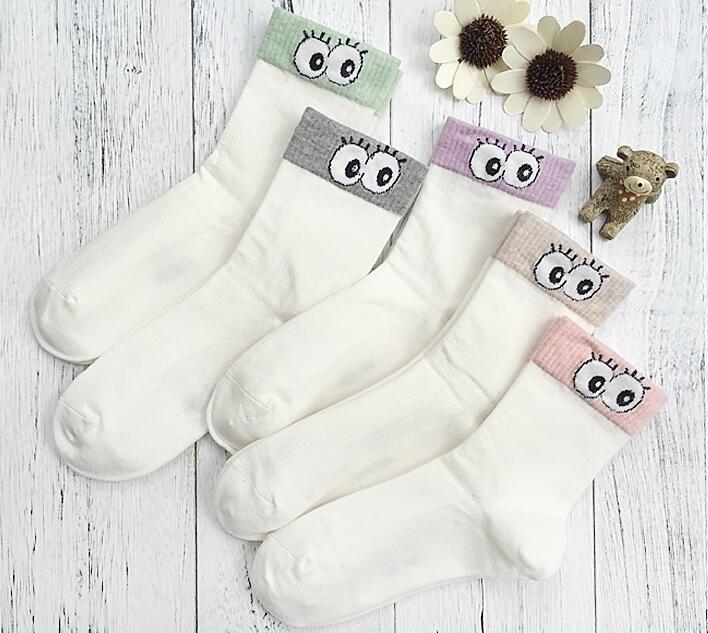 10 Pairs one set 2018 jin ruinn red color Women Fashionable thick Patterns Cotton Winter Socks Cute Cartoon Sock Short Socks