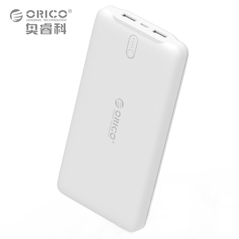 ORICO 20000mAh Power Bank Portable Charger Dual USB Powerbank External Battery Pack