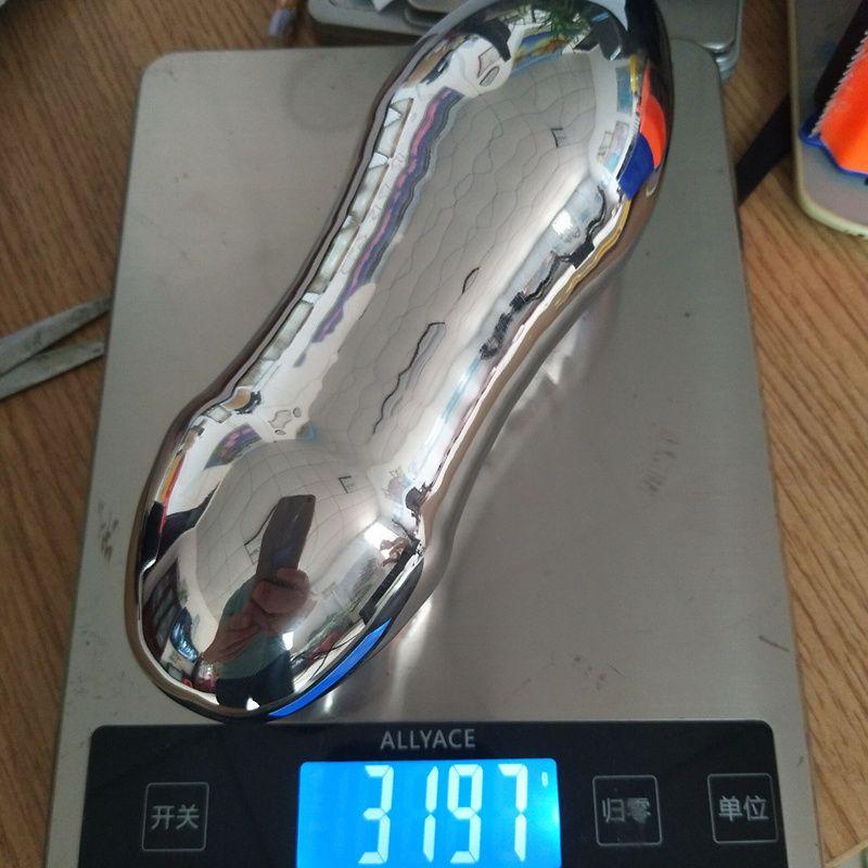 Riesige Größe Edelstahl Solide Anal Plug Anus Dilatator Anal Dilatation Anal-Dildo Butt Stooper für Frauen und Männer H8-1-54
