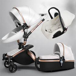 Libérez le bateau! babyfond Aulon 3 en 1 bébé poussette en cuir deux sens amortisseurs bébé de voiture panier chariot Europe bébé landau cadeau