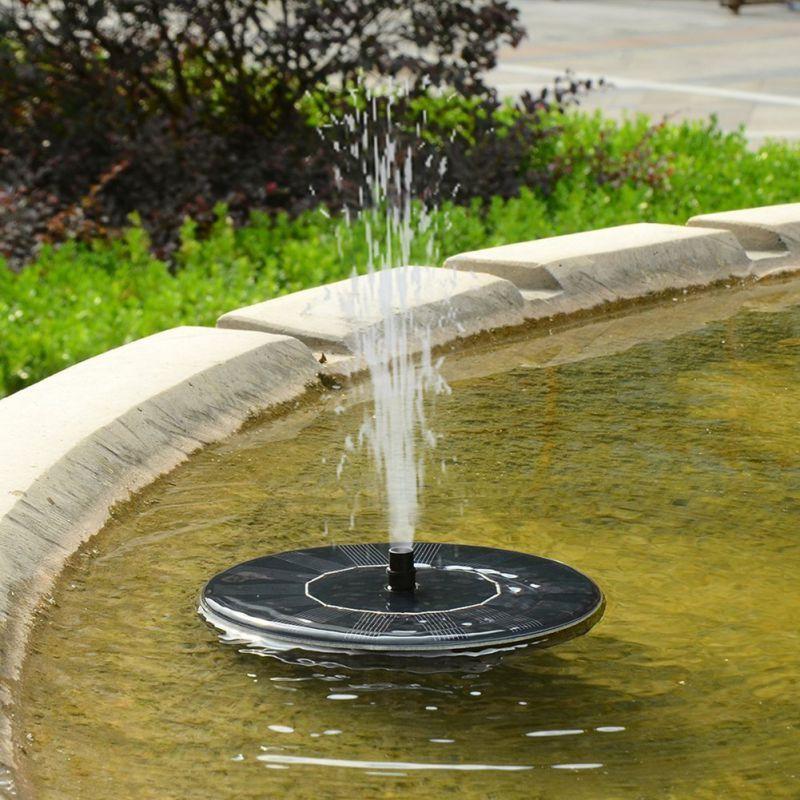 Floating Solar Power Water Pump Fountain Pond For Bird Bath Garden Decor Outdoor Garden Building Decoration