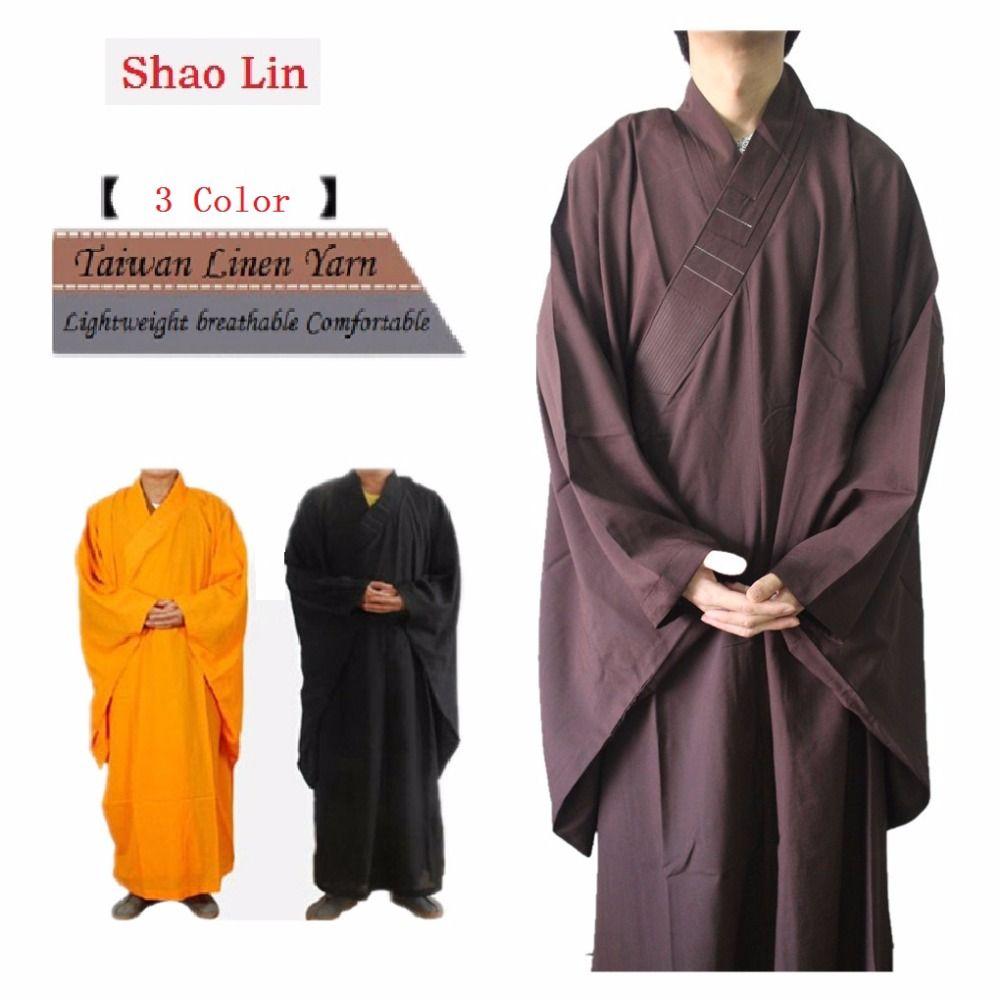 Shanghai Geschichte Unisex Hohe Qualität Shaolin Tempel Zen Buddhistischen Robe Laien Mönch Meditation Kleid Kung fu Training Uniform Anzug