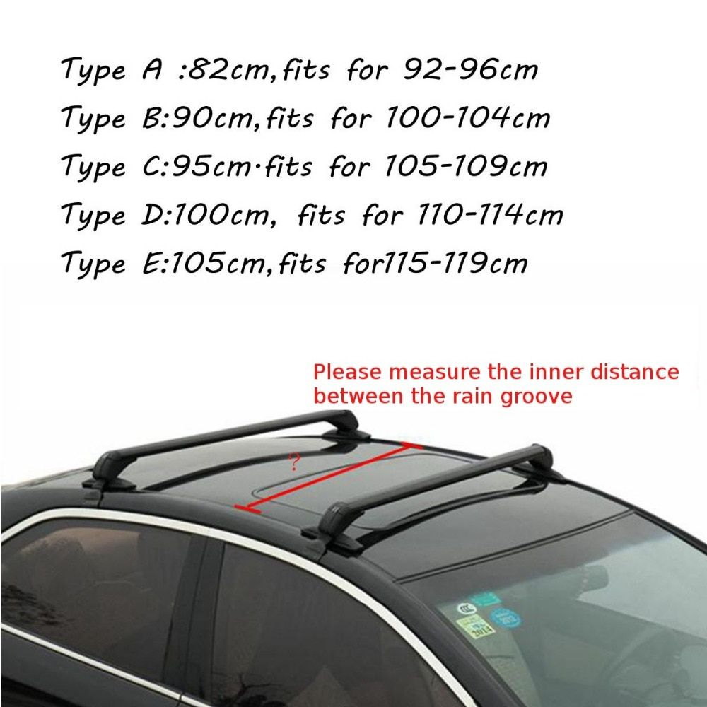 Car Roof Rack Cross Bar Anti-Thief for Honda for KIA for Nissan for VW /Buick/Toyota /Audi /BMW /Ford Black
