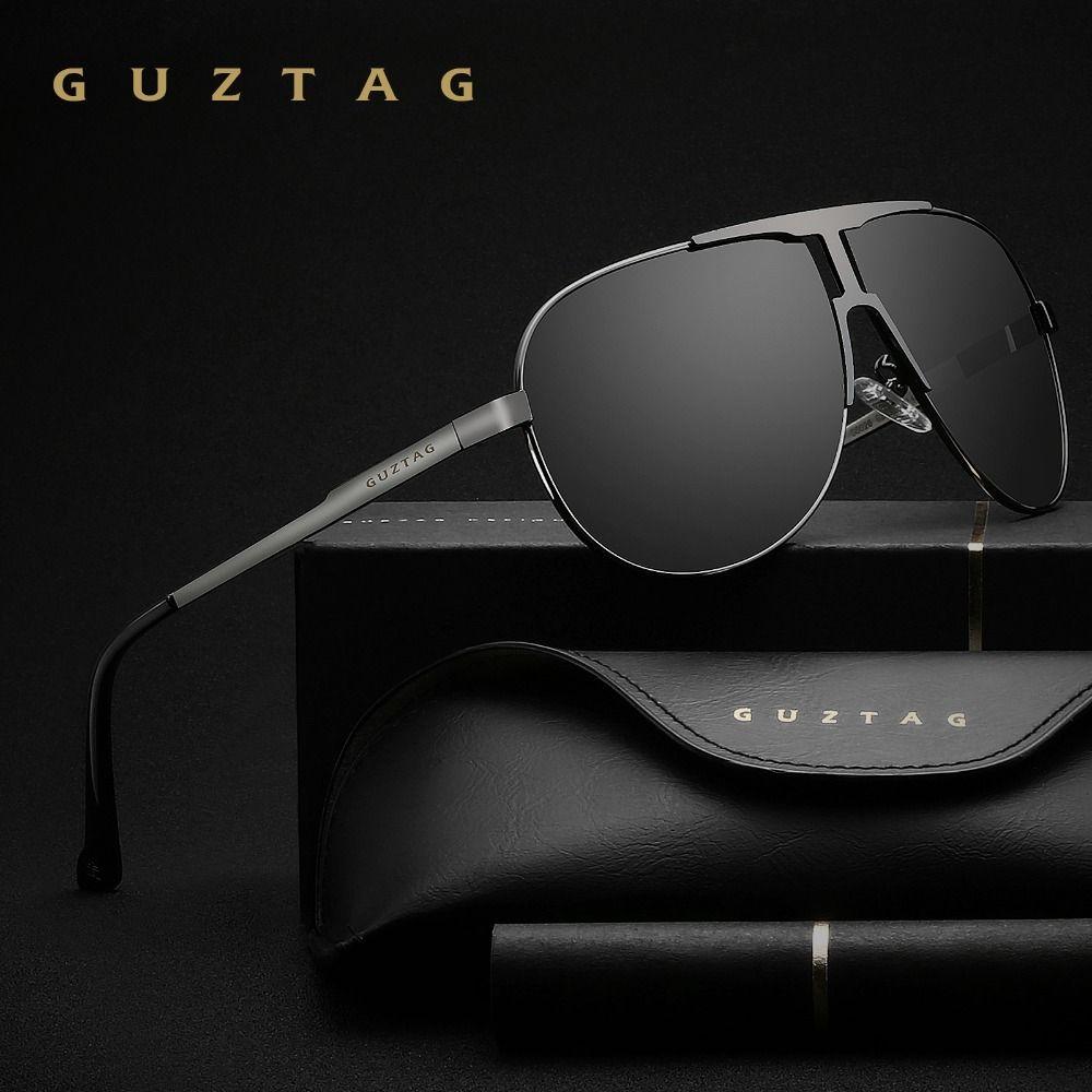GUZTAG Brand Fashion Classic Polarized Sunglasses Men's Designer HD Goggle <font><b>Integrated</b></font> Eyewear Sun glasses UV400 For Men G8026