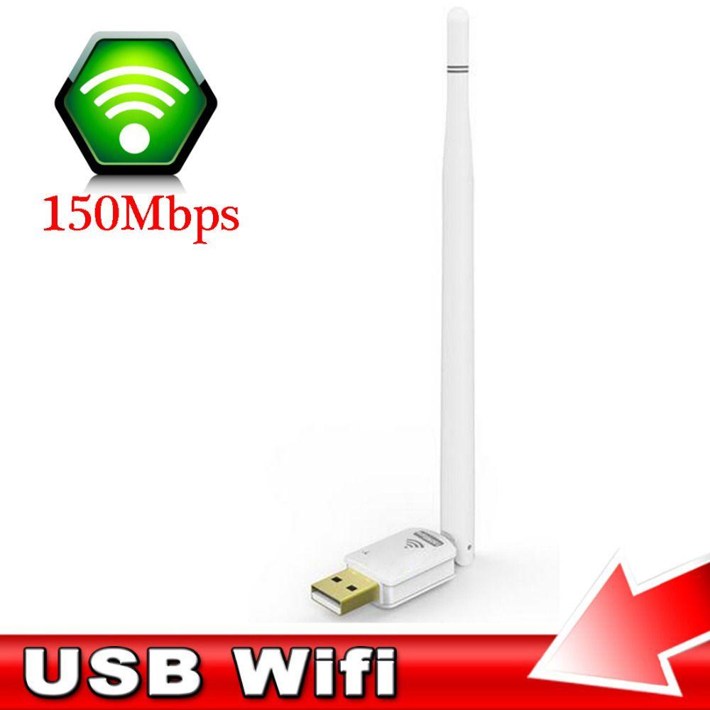 NOYOKERE Leistungsstarke Praktische Freien Treiber Mini Wifi 300 Mt Wireless USB Adapter Mit 5dbi Antenne Tragbare