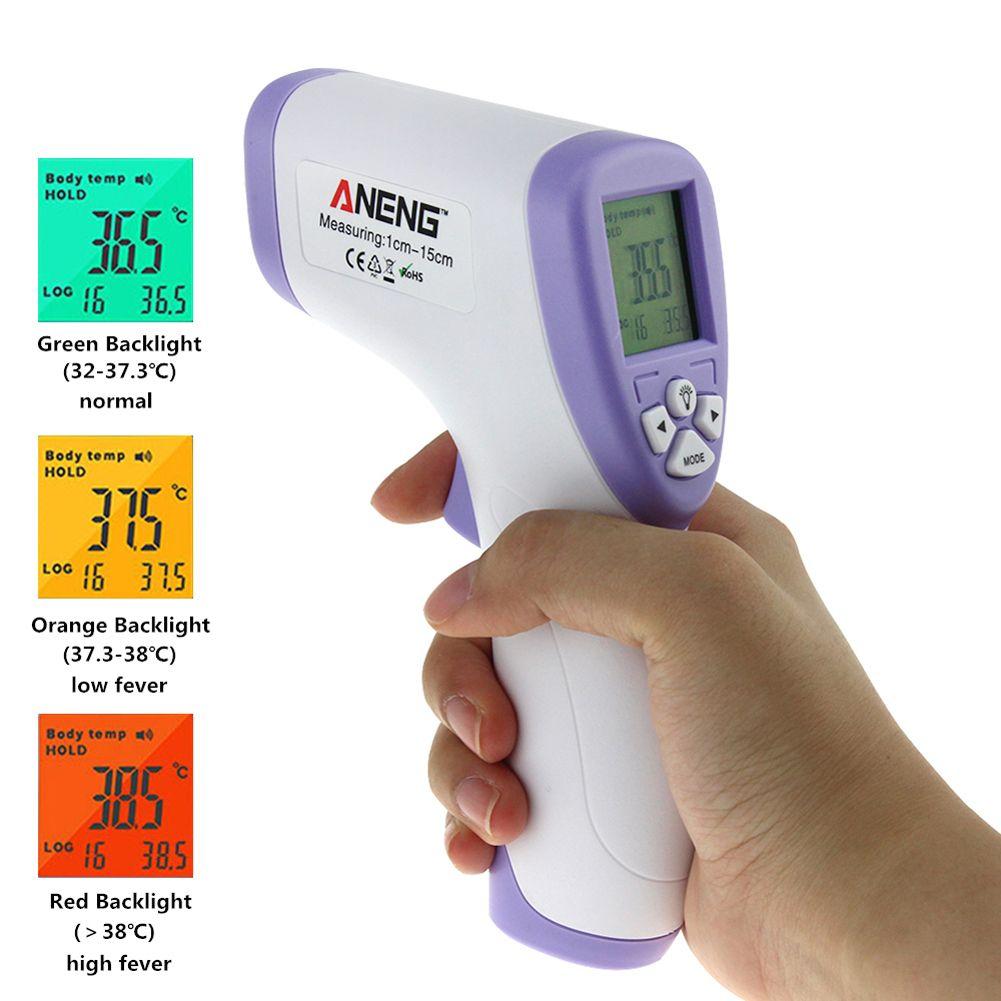Thermomètre infrarouge numérique à main thermomètre infrarouge sans contact IR mesure de la température de Surface du corps du front du bébé