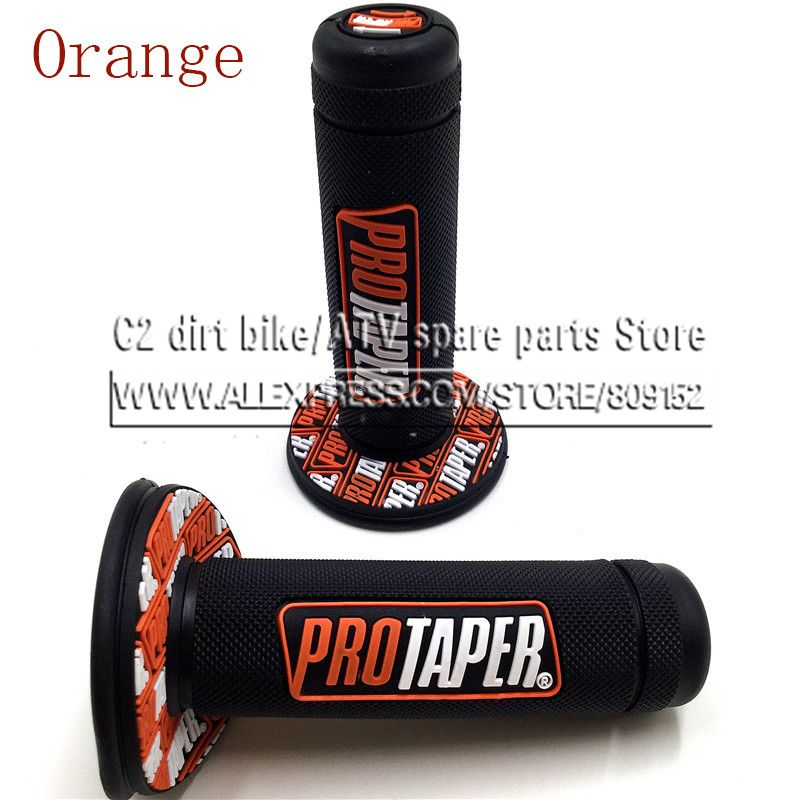 NEW Orange Handle Grip Pro taper Motorcycle High Quality Protaper Dirt Pit Bike Motocross 7/8