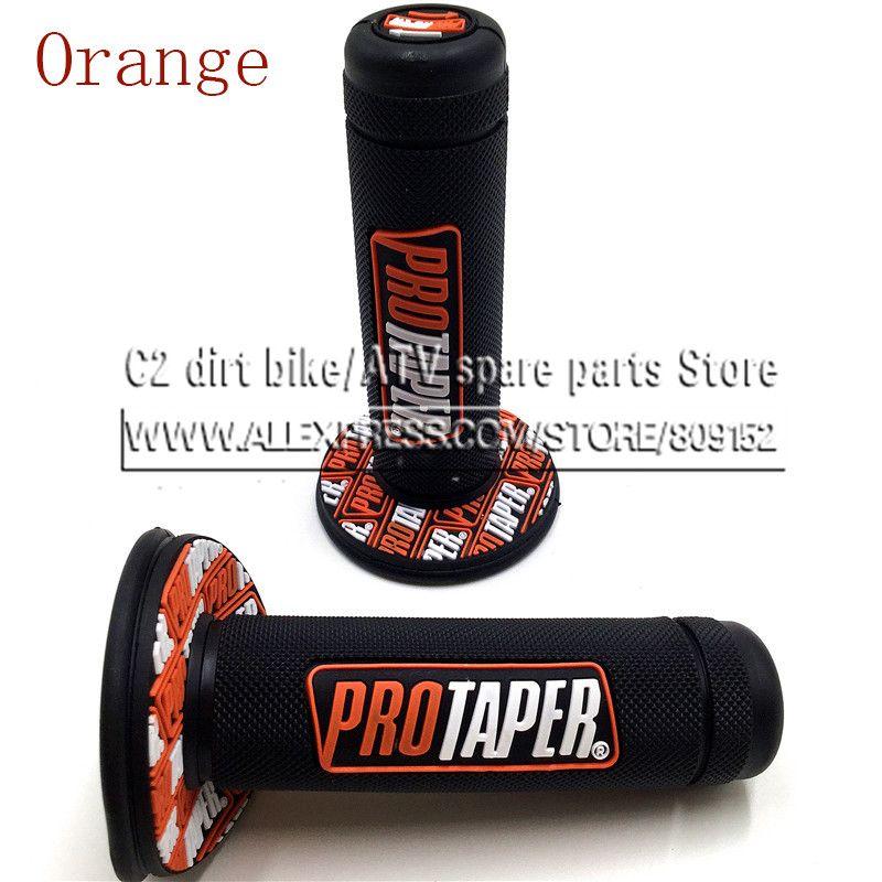 Nouvelle poignée Orange poignée Pro cône moto haute qualité Protaper Dirt Pit vélo Motocross 7/8