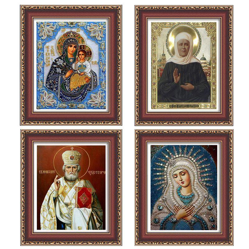 Megayouput 5D DIY алмаз наборы для вышивания картина, вышитая бисером религиозных наш Леди Фотографии Стразы Алмазная мозаика