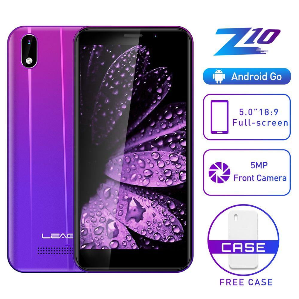 LEAGOO Z10 Android 5.0 zoll Handy MT6580M Quad Core Dual SIM WCDMA 3G Handy Dual 5.0MP Cams 2000mAh baterry Smartphone