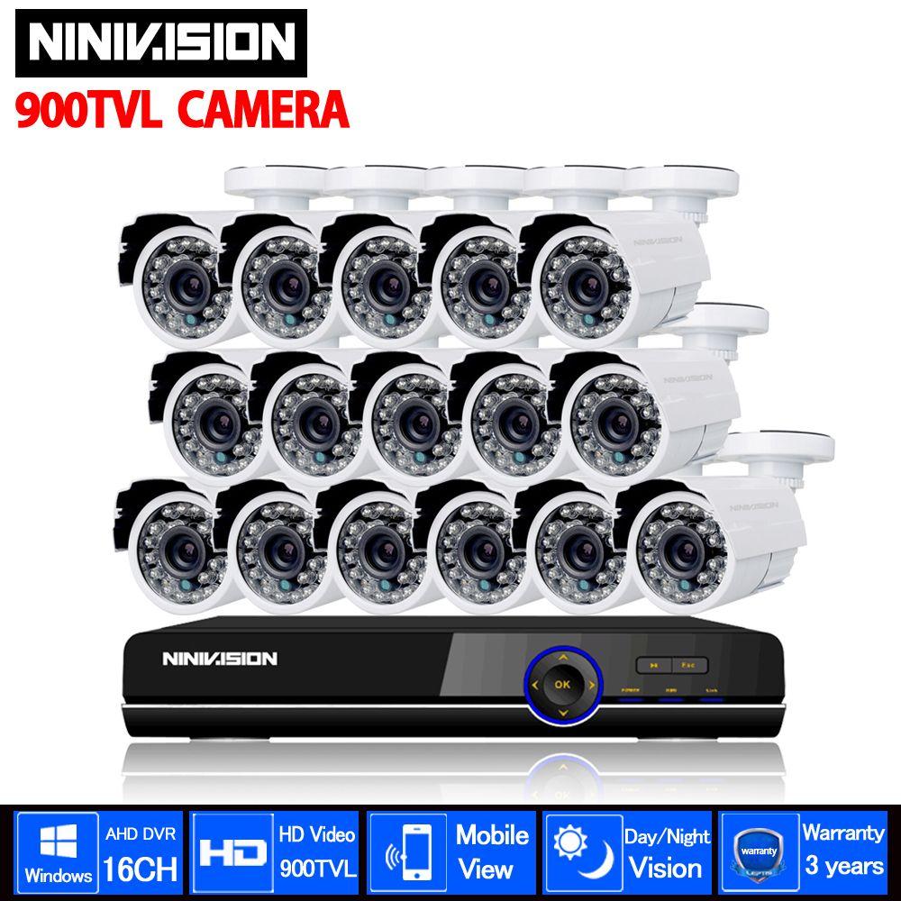 1080P 16 Channel CCTV AHD DVR System 900TVL IR Weatherproof video Surveillance CCTV Camera Kit 16ch wifi DVR Recorder System