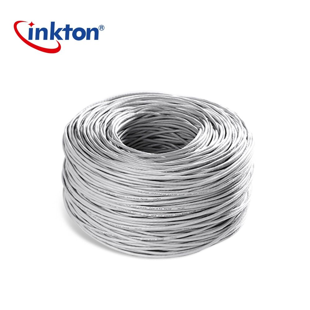 Inkton Ethernet Cable Cat5e UTP Oxyen Free Copper Twisted Pair Wire For Home Network Engineering Lan Cable 305m 100% Pure Copper