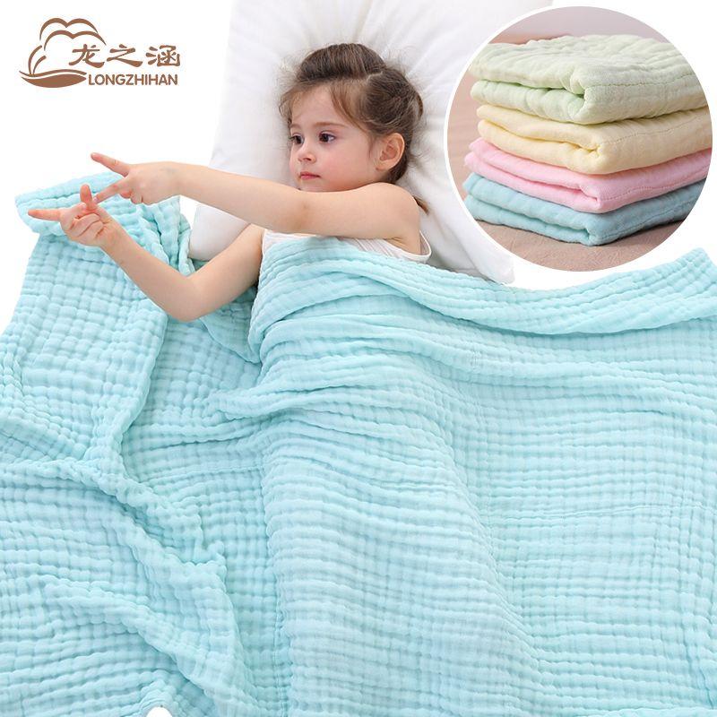 Couverture de bébé Mousseline de Coton 6 couche super doux Infantile Nouveau-Né Bébé Emmailloter Sommeil couvertures Langes 90*116 cm De Bain serviette