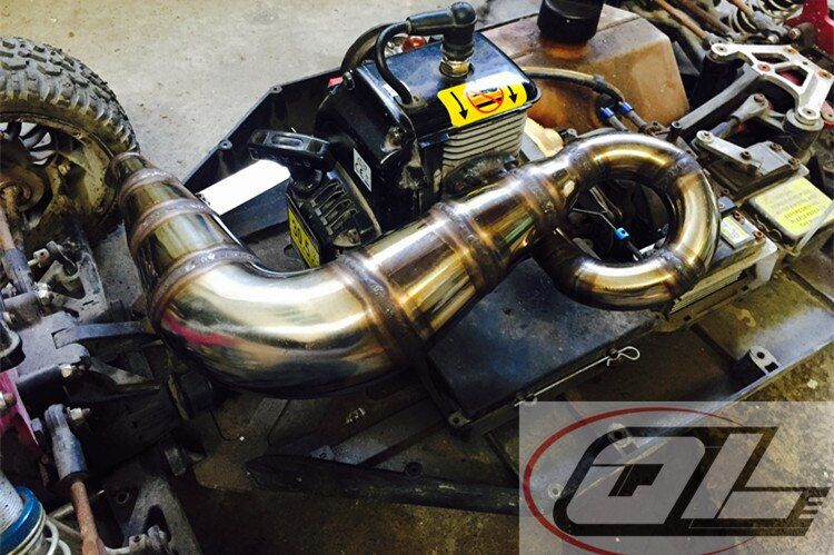NEW Super Power Winner Exhaust Tuned pipe for Losi 5ive-T 4x4 Truck 5T RC BND(LOSB0019) 1/5 Gas Truck Rovan LT KM-X2 DDT