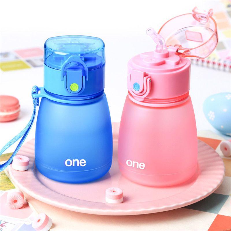 308 ML Sippy tasse Tritan boudin paille bouteille d'eau tasse d'alimentation sans BPA pour bébé enfants fuite-pouf enfants apprendre la corde à boire