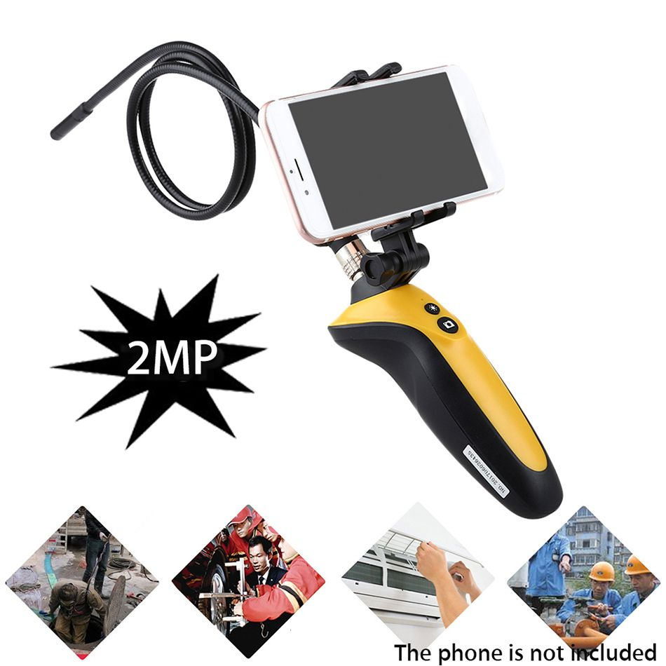 HT-669 Wifi Endoscope Wireless Borescope IP67 Tube Snake Inspection Camera 1M Cable 720P 6 LEDs For IOS Android