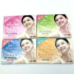 2 pack = 100 hojas papeles tissue pro maquillaje potente limpieza aceite de absorción de papel de cara absorb blotting cara limpiador facial herramientas