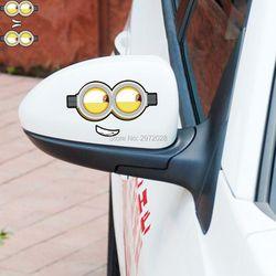 2 X Kartun Minion Despicable Me Mata Lucu Tampilan Belakang Mobil Cermin Stiker Mobil Stiker