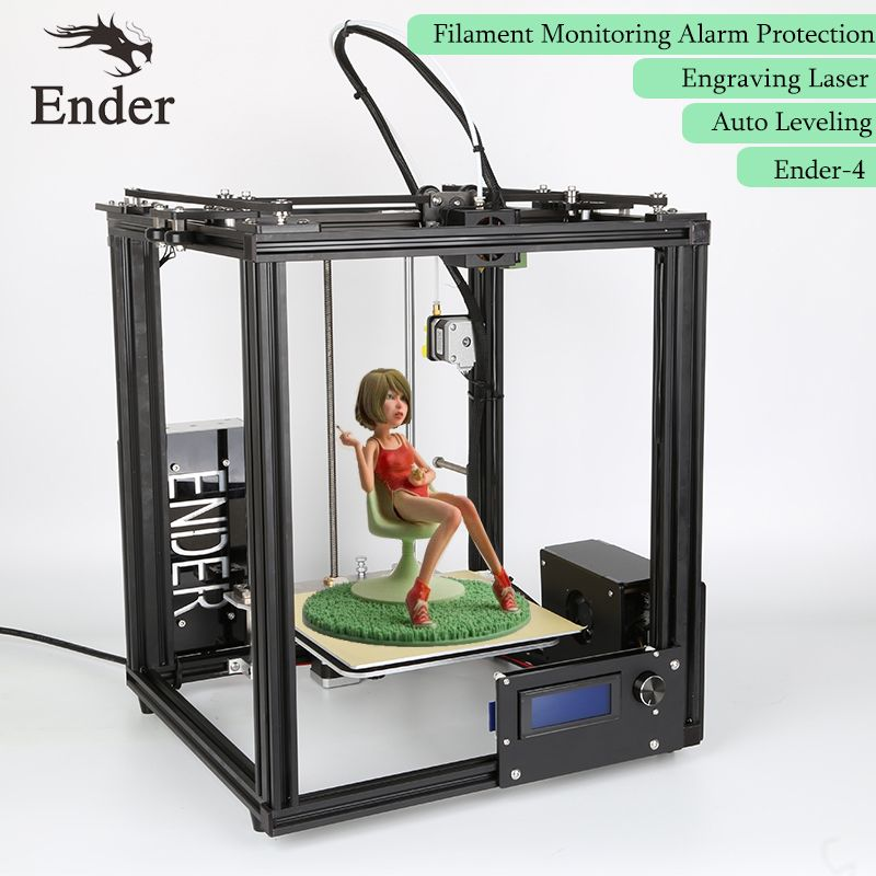 Ender-4 3D Printer Laser Engraving,Auto Leveling,Filament Monitoring Alarm ,Large Print Size 220*220*300 Prusa i3 Printer 3D kit