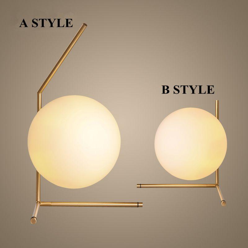 Moderne Design Dia 20 cm Glaskugel Tischlampe Für Schlafzimmer Studie Led Nachtnachtlicht Art Deco Schreibtisch Licht abajur para quarto