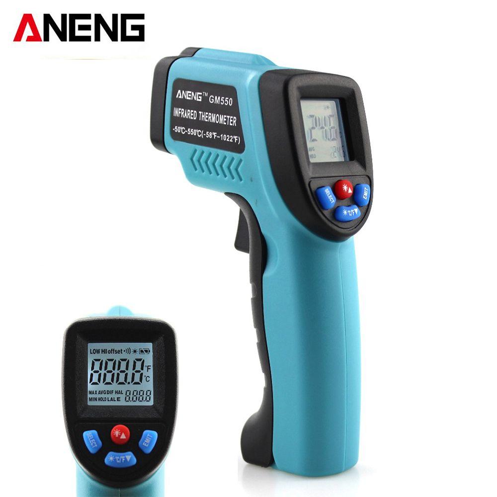GM550 ANENG thermometers Celsius Fahrenheit thermometer digital Thermometer infrared laser laser Ao Ar Livre