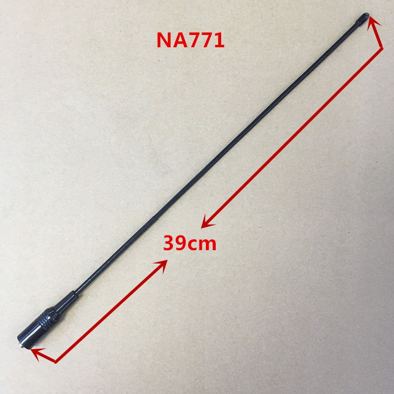 Honghuismart NA771 NA-771 144/430 MHZ antenne haute Gain SMA femelle pour BaoFeng BFUV5R, BF888S, Puxing PX777, PX888 talkie-walkie