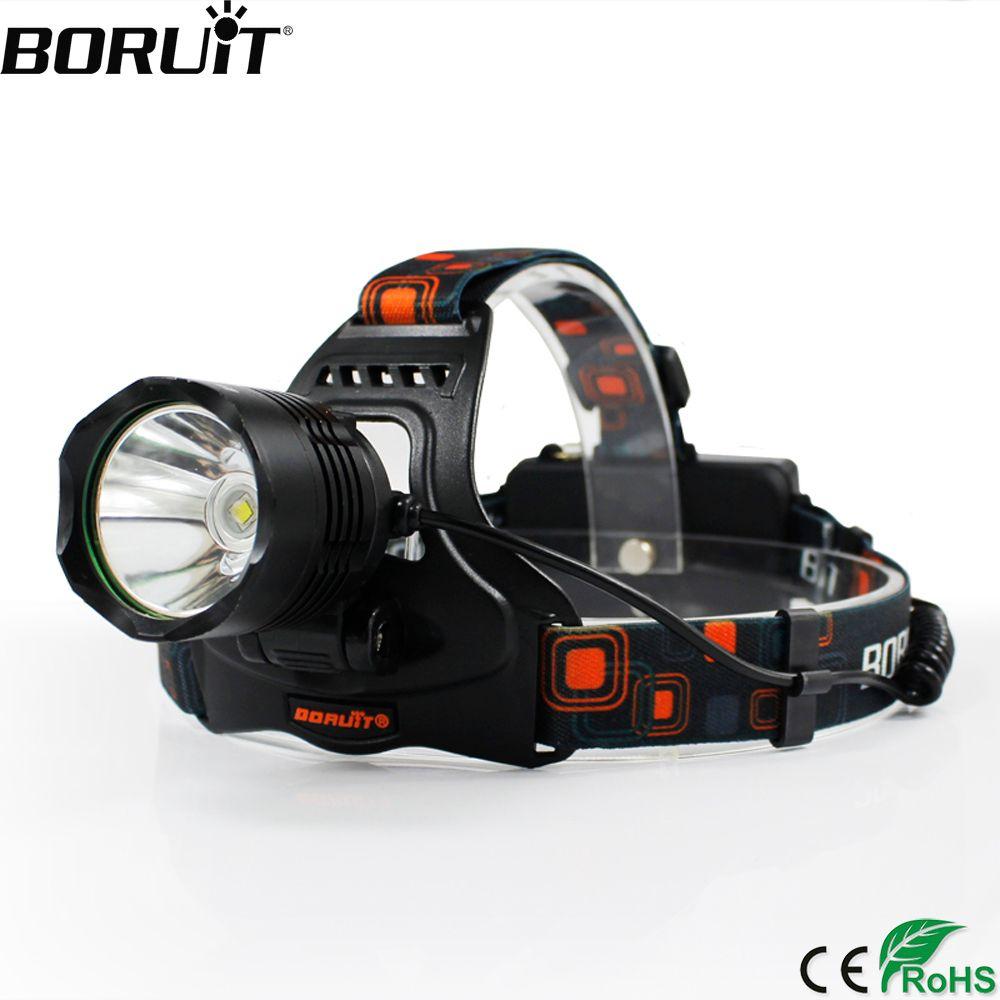 BORUiT 2000LM XML-L2 LED Headlamp 5-Mode Headlight POWER BANK Head Torch Camping Hunting Frontal Lantern 18650 Battery