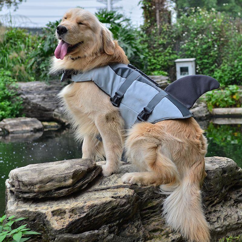 Pet Dog <font><b>Shark</b></font> Life Jacket Safety Clothes For Dog Life Vest Summer Clothes Saver Swimming Preserver Swimwear Dog Life Jacket 25S1