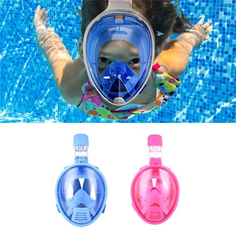 Дети Безопасный полный Уход за кожей лица маска подводного плавания watersport подводный Одежда заплыва трубка Анти-туман, полное-Уход за кожей ...