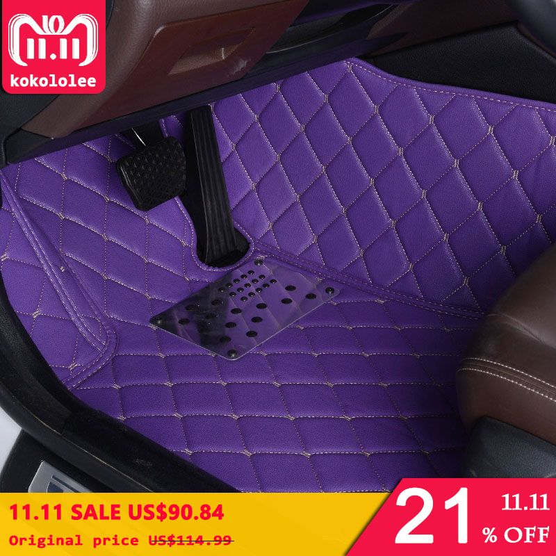 KOKOLOLEE Custom car floor mats for Honda All Models CRV XRV Odyssey Jazz City crosstour S1 CRIDER VEZEL auto foot mat