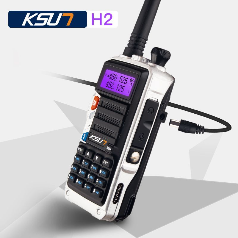 KSUN H2 Walkie Talkie 10W high power Dual Band Handheld Two Way Ham Radio Communicator HF Transceiver Amateur Handy