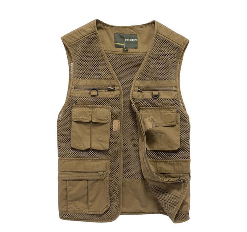 Hyweacvar Fly Flight Vest Multi-Pockets Breathable Jacket for <font><b>Work</b></font> Photography Filming Studio <font><b>Work</b></font>