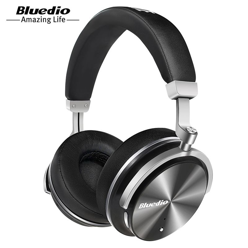 Bluedio T4 active noise cancelling wireless Bluetooth headphones folable <font><b>headset</b></font> ANC over ear headphone For Xiaomi,Samsung
