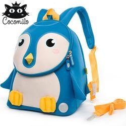 Cocomilo 3D Hewan Ransel Anti-Lost Tas Sekolah Anak TK Ransel Anak Kecil untuk Anak Laki-laki Gadis Mochila Escolar