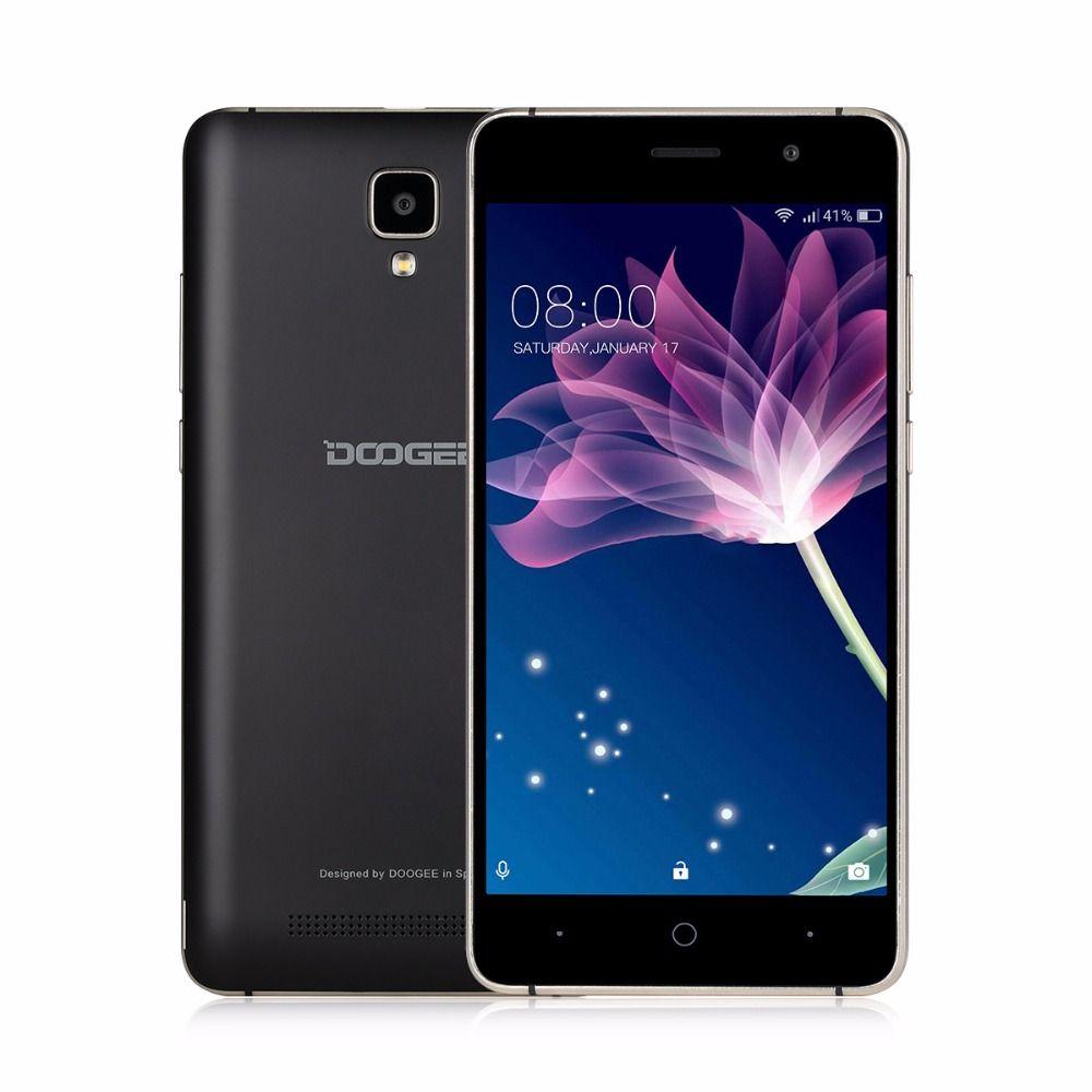 DOOGEE X10 5'' Android 6.0 MTK6570 Mobile Phone Dual Core 3G WCDMA 512MB RAM 8GB ROM Smartphone 3360mAh 5MP Dual SIM Cellphone